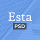 Esta — Real Estate PSD Template Nulled
