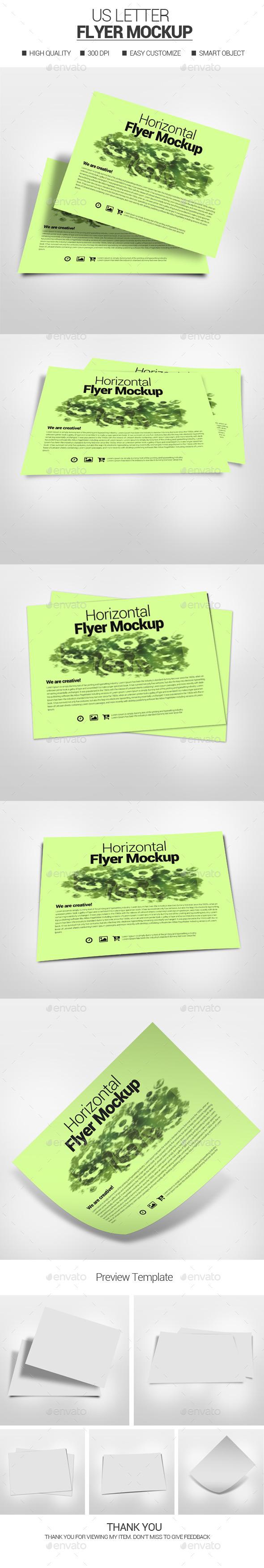 Horizontal Flyer Mockup