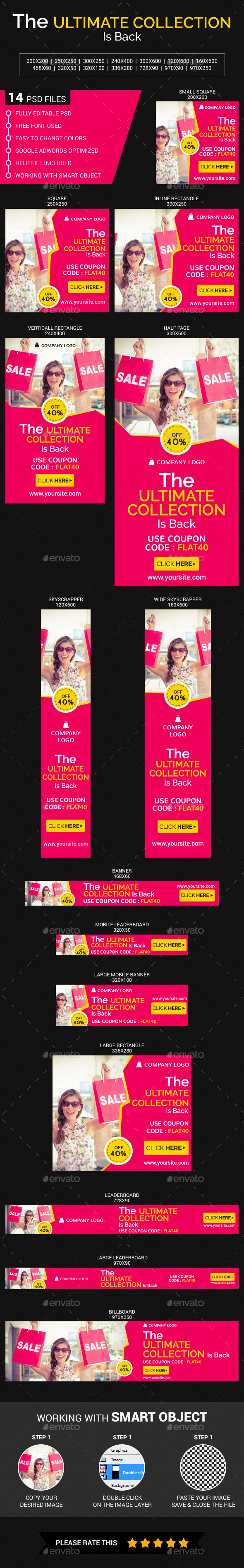 Fashion Sale - Banners & Ads Web Elements