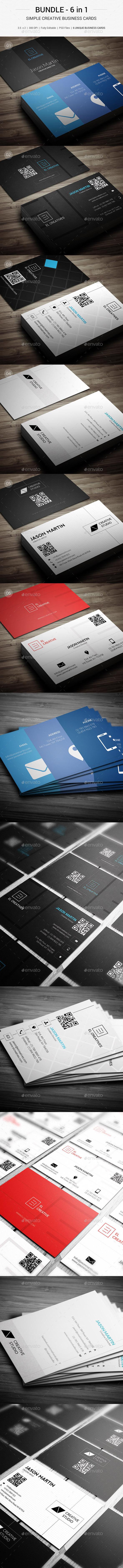 Bundle - Creative Simple Business Cards - 144 - Creative Business Cards