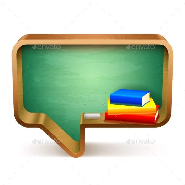 School Books and Blackboard - Man-made Objects Objects