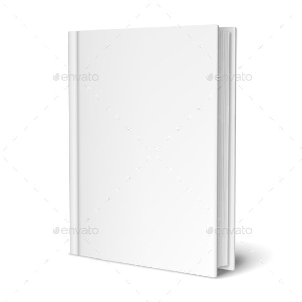 Empty White Book - Man-made Objects Objects