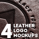 4 Realistic Leather Logo Mockups - GraphicRiver Item for Sale