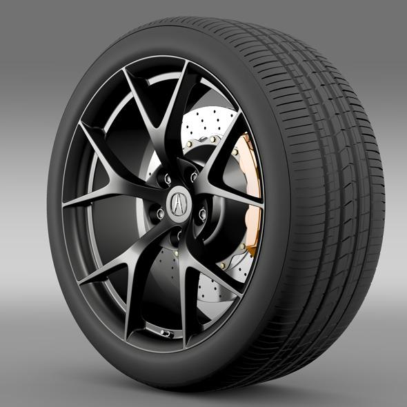 Acura NSX wheel 2015 - 3DOcean Item for Sale