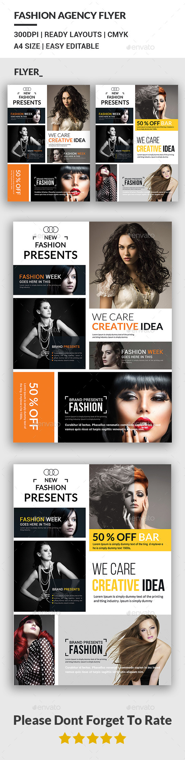 Fashion Agency Flyers  - Corporate Flyers