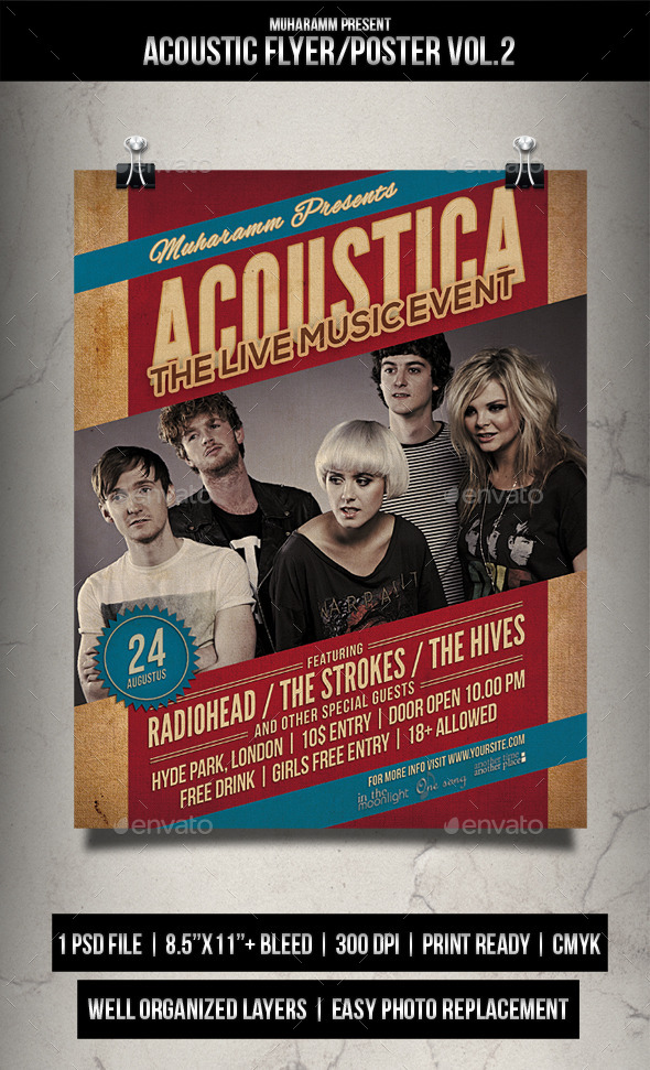Acoustic Flyer / Poster Vol.2 - Events Flyers