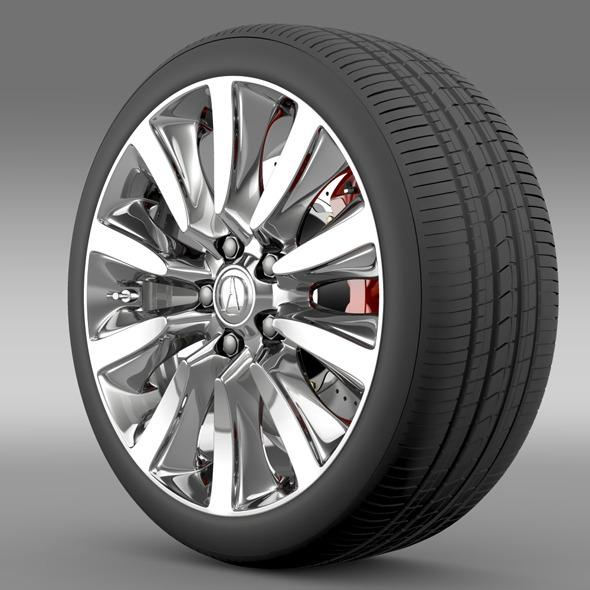 Acura RLX Sport Hybrid wheel - 3DOcean Item for Sale
