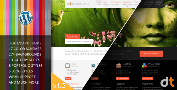 Duotive 2WO – WordPress Theme