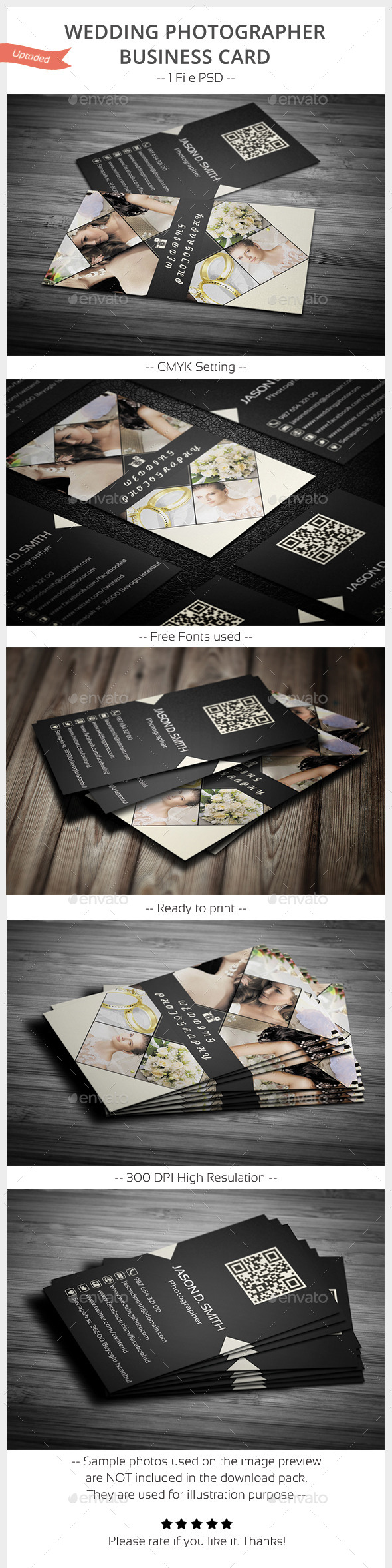 Wedding Photographer Business Card - Industry Specific Business Cards