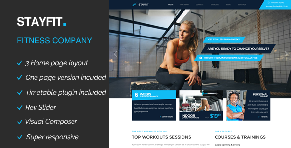 Stayfit Sports Health Gym & Fitness WP Theme