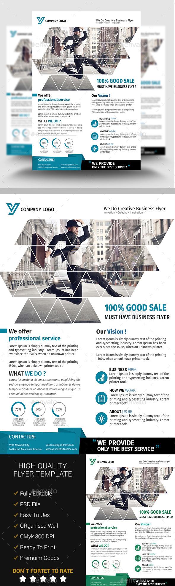 A4 Business Flyer Template 09