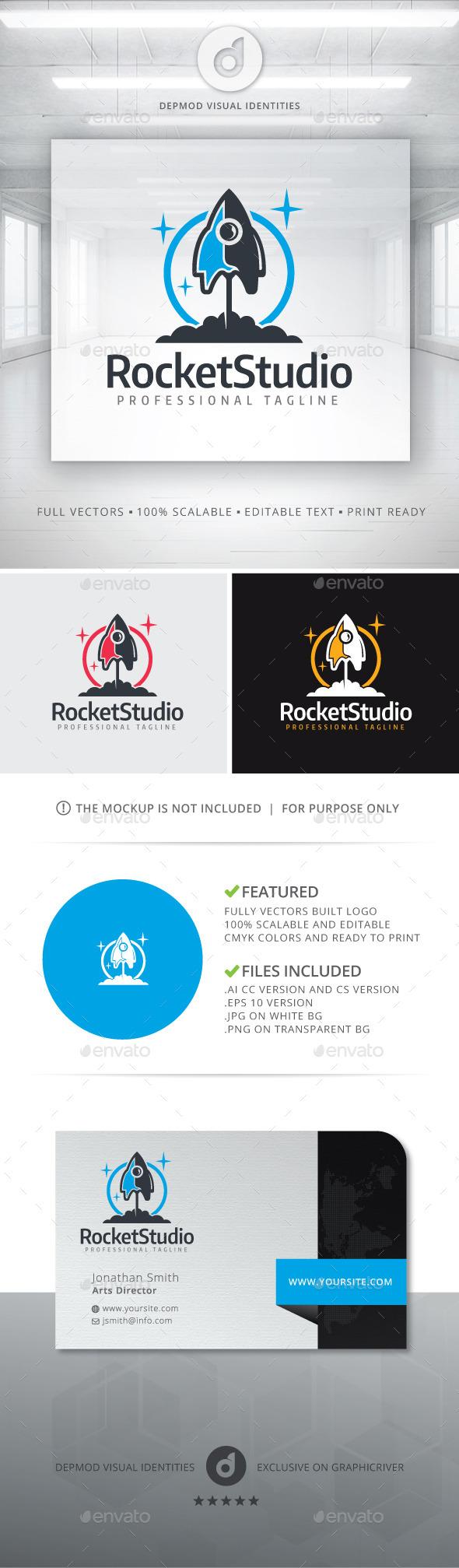 Rocket Studio Logo - Symbols Logo Templates