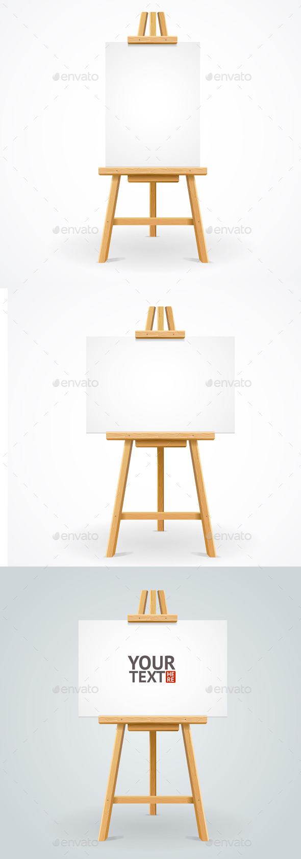 Wooden Easel Set - Buildings Objects