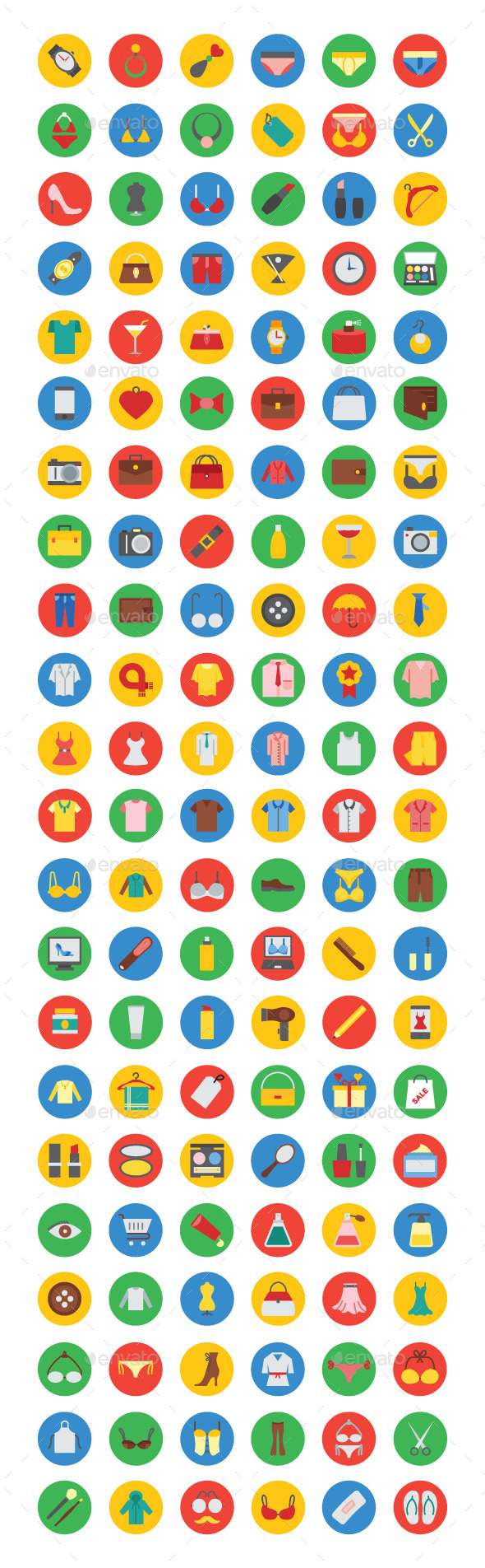 125& Fashion Vector Icons