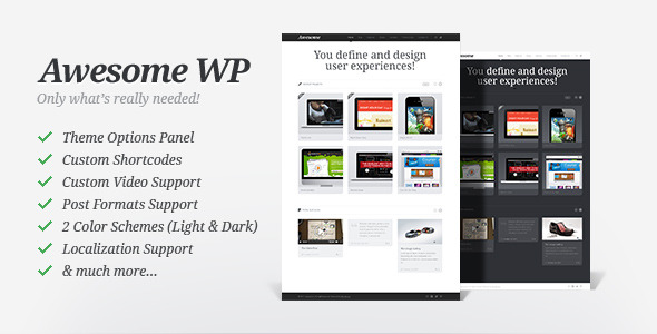 Free Download Awesome WP - Portfolio Theme Nulled Latest Version