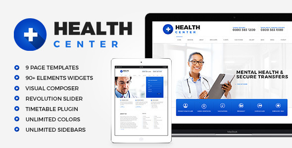 HealthCenter – Medical WordPress theme