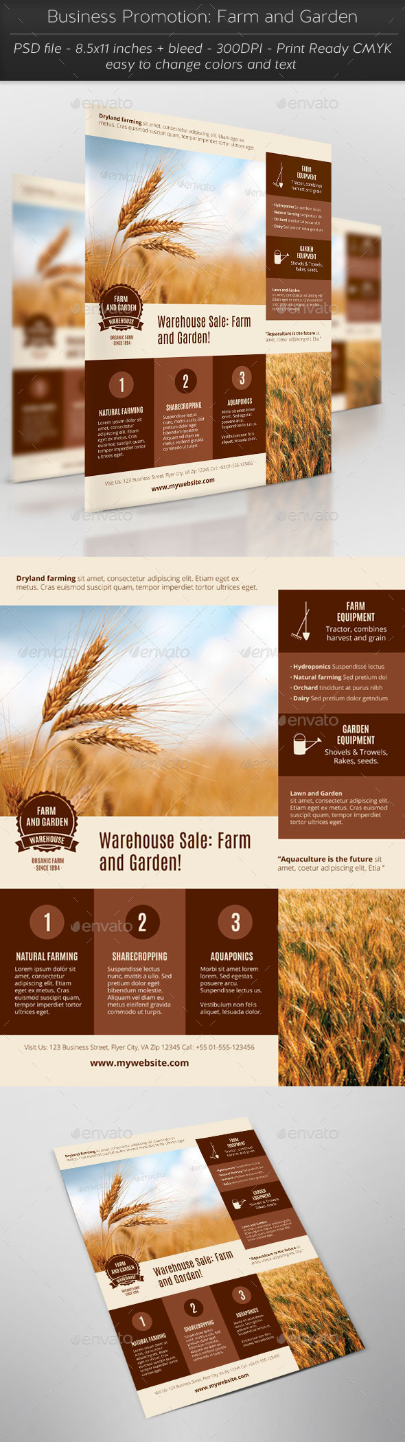 Business Promotion: Farm and Garden - Flyers Print Templates