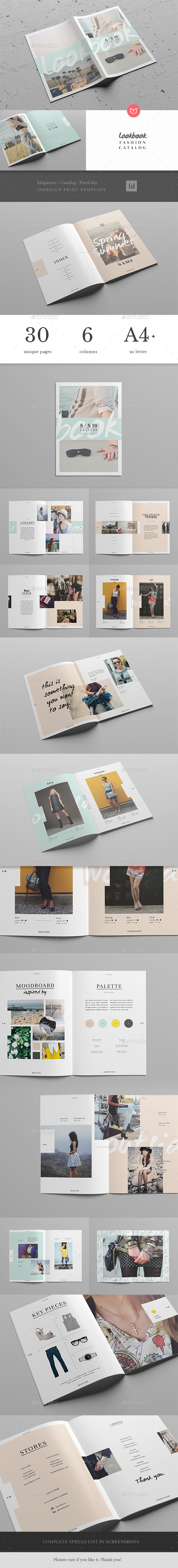 Lookbook / Fashion Magazine + Catalogue - Magazines Print Templates