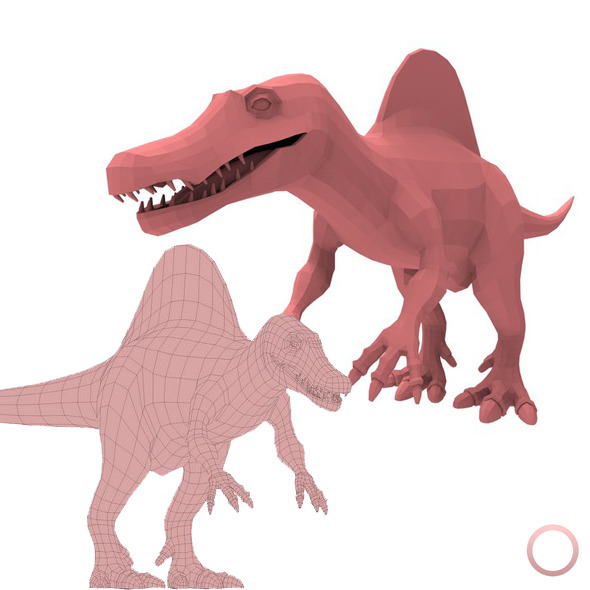 Spinosaurus Base Mesh - 3DOcean Item for Sale