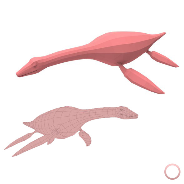 Plesiosaurus Base Mesh - 3DOcean Item for Sale