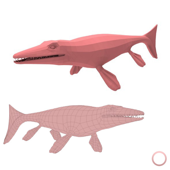 Mosasaurus Base Mesh - 3DOcean Item for Sale