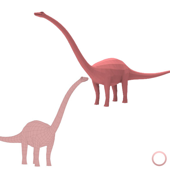 Diplodocus Base Mesh - 3DOcean Item for Sale