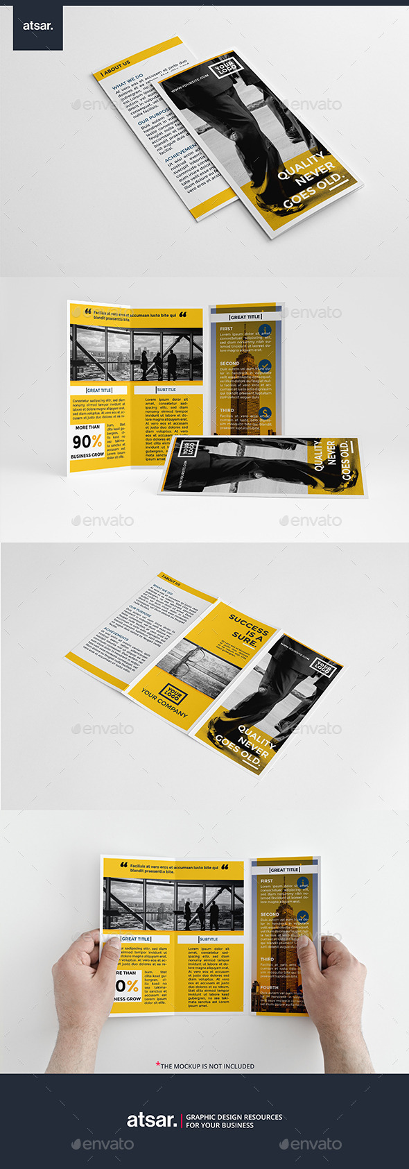 Corporate Yellow Trifold - Corporate Brochures