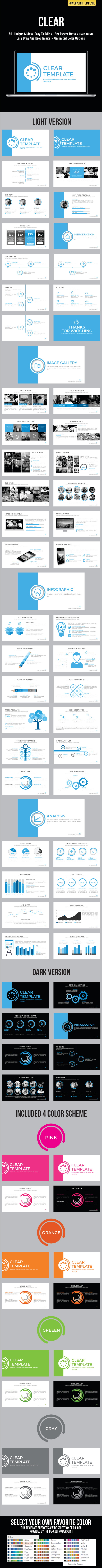 Clear Powerpoint Template - Business PowerPoint Templates