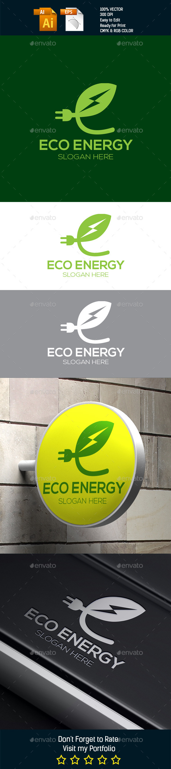 Eco Energy - Nature Logo Templates