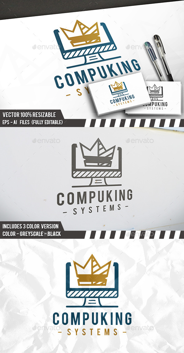 Computer King Logo - Objects Logo Templates