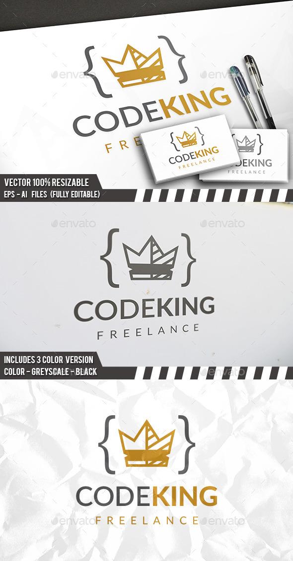 Code King Logo - Symbols Logo Templates