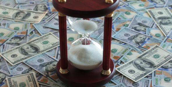 Hourglass On Dollar Bills 1