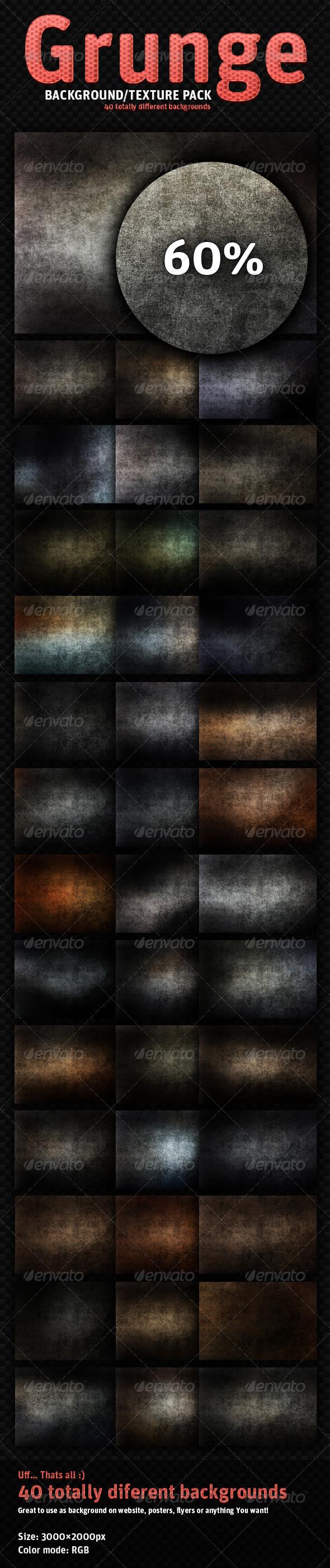 Dark Grunge - 40 Totally Different Textures - Industrial / Grunge Textures