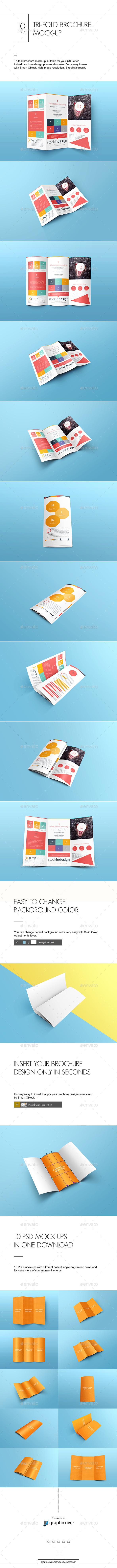 Tri-fold Brochure Mock-Up - Brochures Print