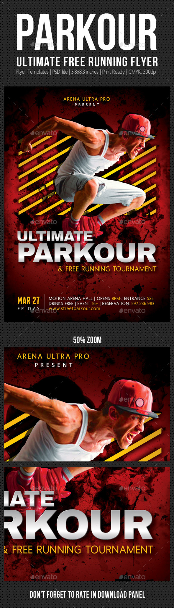Ultimate Parkour Free Running Flyer V02 - Events Flyers