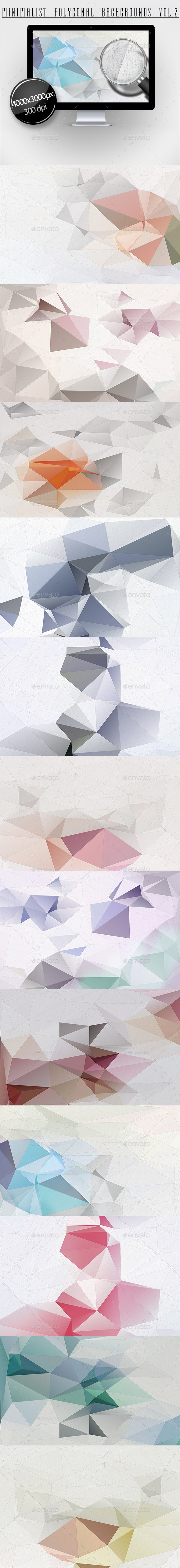 Minimalist Polygonal Backgrounds Vol.2 - Abstract Backgrounds