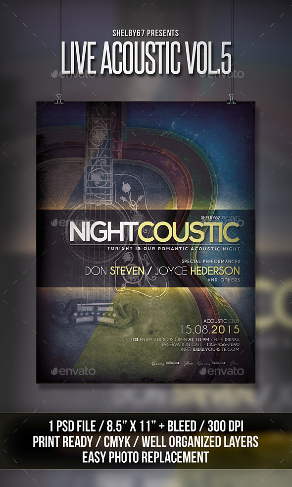 Live Acoustic Flyer / Poster Vol 5 - Events Flyers