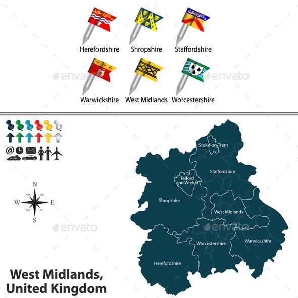 West Midlands, United Kingdom - Travel Conceptual