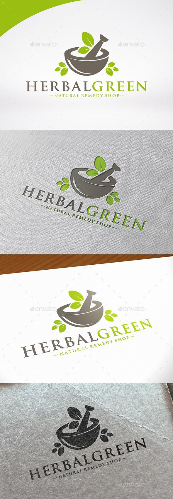 Herbal Pharmacy Logo Template - Nature Logo Templates