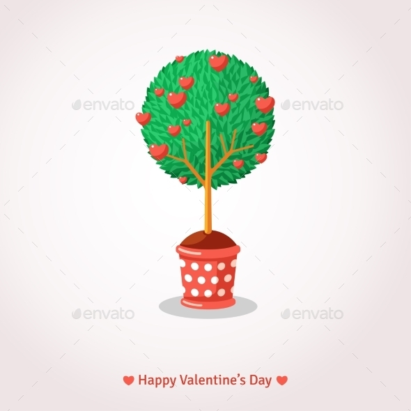 Valentine's Day Love Tree.  - Valentines Seasons/Holidays