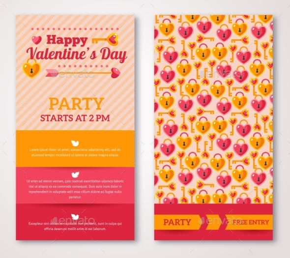 Greeting Or Invitation Cards With Key - Valentines Seasons/Holidays