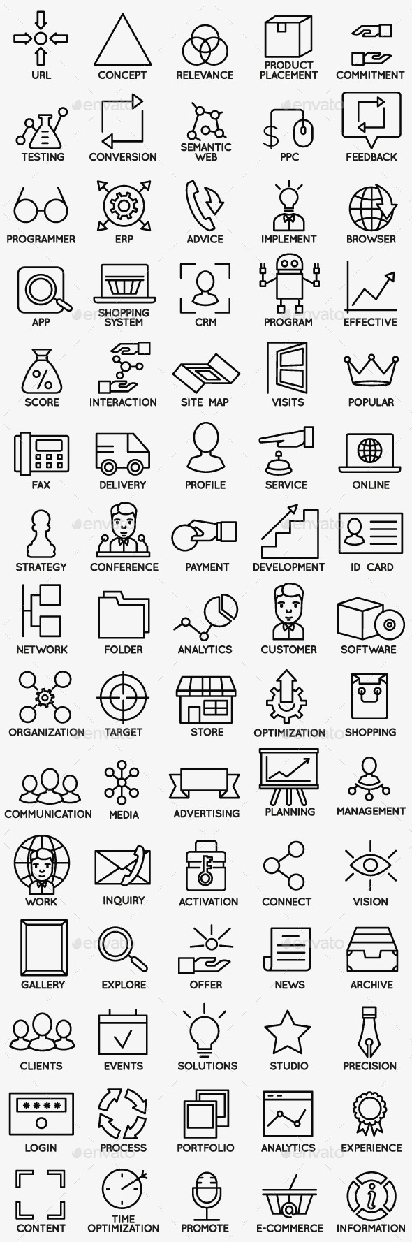 Set of Seo and Internet Service Icons - part 2 - Business Icons