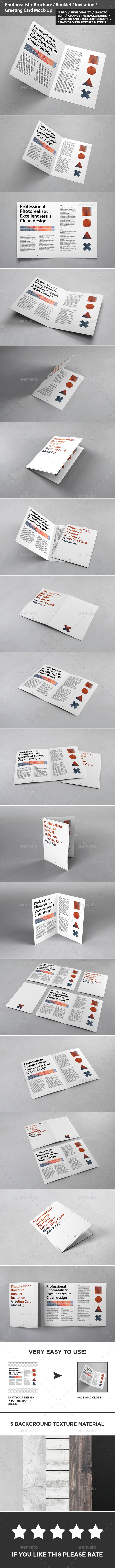 Brochure / Invitation / Greeting Card Mock-Up - Brochures Print