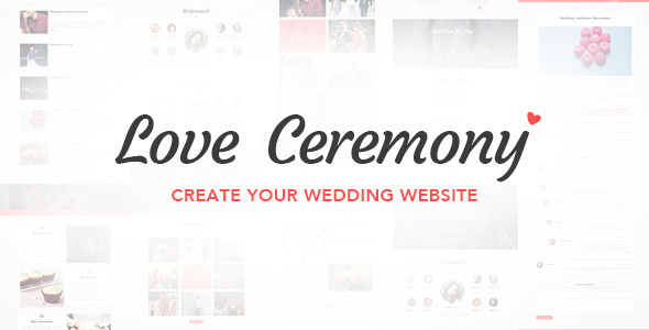 Love Ceremony – Wedding PSD Template