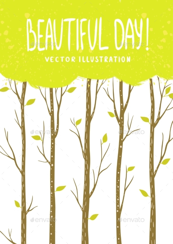 Trees Card - Nature Conceptual