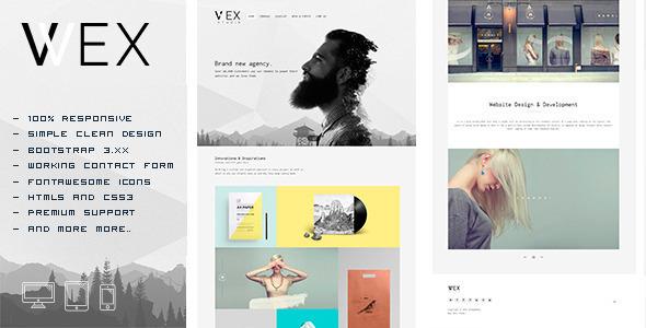 WEX – Minimalistic HTML Portfolio Template