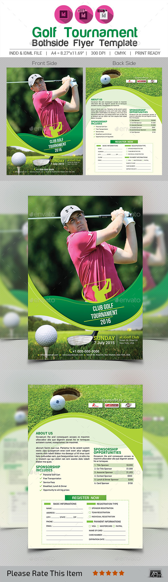 Golf Tournament Flyer Template V4   Sports Events
