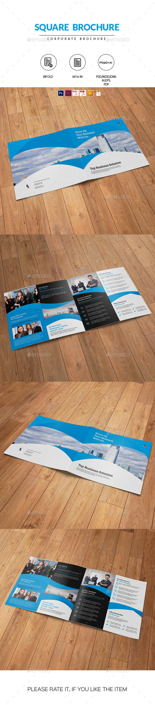 Square Brochure for Business - Corporate Brochures
