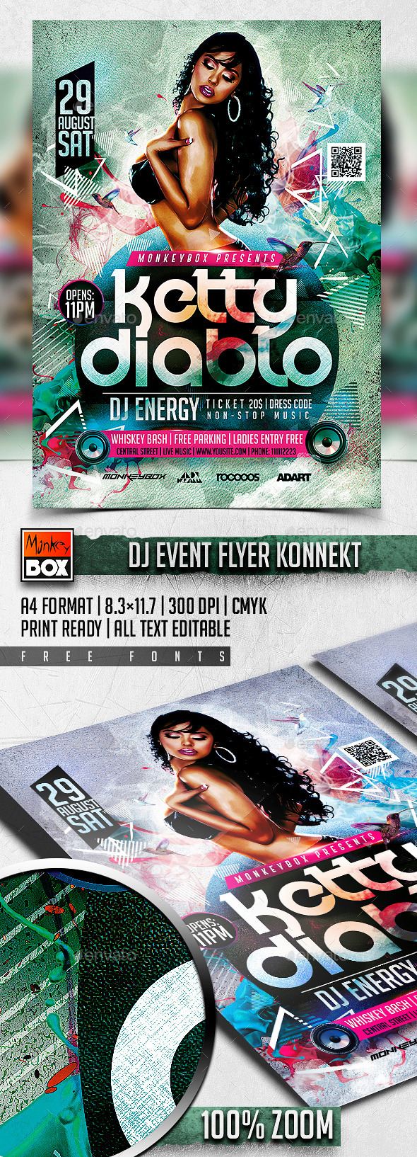 Dj Event Flyer Konnekt - Clubs & Parties Events