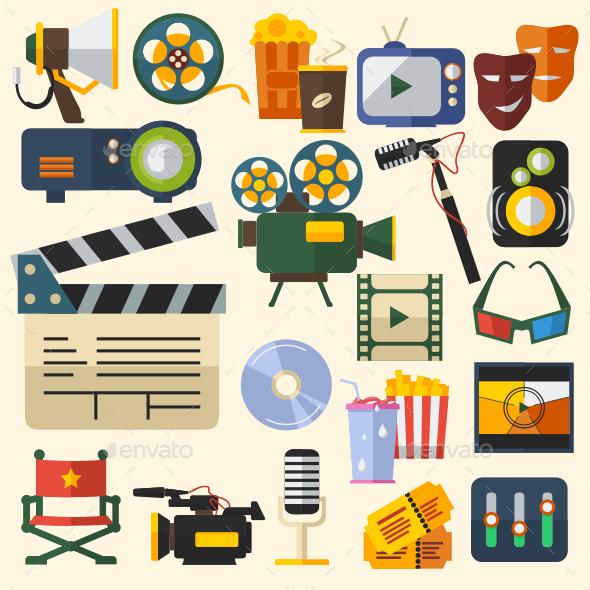 Cinema Icons Set - Media Technology